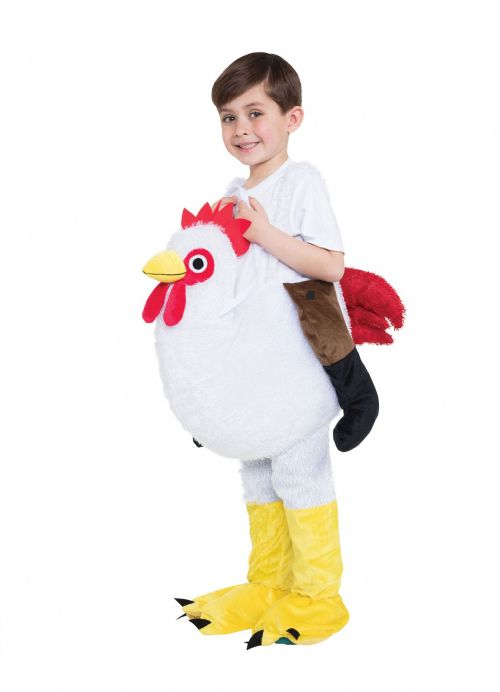 Adults Chicken Step In Childs Costume Chick Easter Animal Fancy Dress Outfit